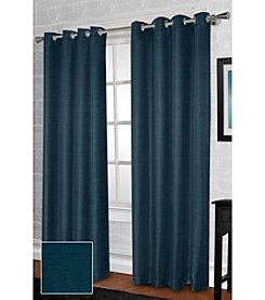Exclusive Home Raw Silk Look Thermal Grommet Panel Set