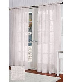 Exclusive Home Belgian Textured Linen Look Sheer Rod Pocket Panels