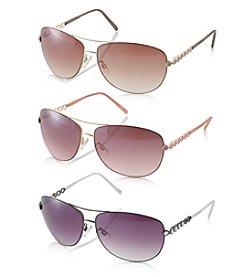 Steve Madden Enamel Aviator Sunglasses