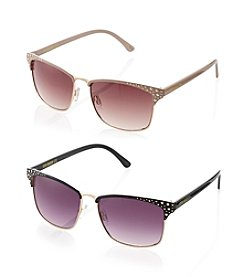 Steve Madden Retro Metal Sunglasses
