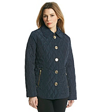 MICHAEL Michael Kors® Button Front Barn Jacket with Metallic Buttons