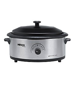 Nesco® 6-qt. Stainless Steel Roaster with Non-Stick Cookwell & Metal Lid