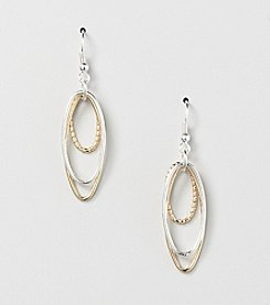 Studio Works® Two-Tone Triple Oval Drop Earrings