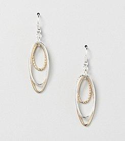 Studio Works® Two-Tone Triple Oval Drop Earrings