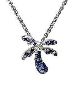 Effy® Multicolor Sapphire Palm Tree Pendant Necklace in Sterling Silver