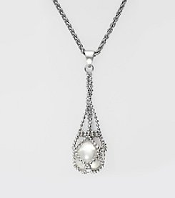 Effy® Freshwater Pearl Pendant Necklace in Sterling Silver