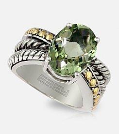Effy® Green Amethyst Ring in Sterling Silver & 18K Gold