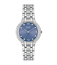 Citizen® Eco-Drive Women's Stainless Steel Bella with Diamond Accents Watch