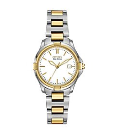 Citizen® Eco-Drive Women's Two Tone Watch with Diamond Accents
