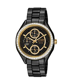 Citizen® Drive Eco-Drive Women's Black Ion Plated POV Multifunction Watch