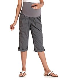 Three Seasons Maternity™ Roll Cuff Cargo Capris