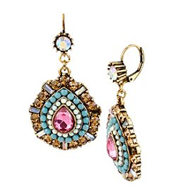 Betsey Johnson® Crystal Teardrop Earrings