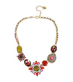 Betsey Johnson® Crystal Gem Frontal Necklace
