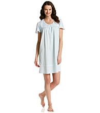 Aria® Short Knit Gown - Aqua Geo
