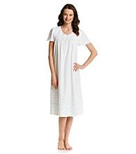 Aria® Knit Ballet Gown - White Floral Border