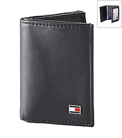 Tommy Hilfiger® Men's Black Oxford Trifold Leather Wallet