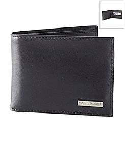Tommy Hilfiger® Men's Black Passcase Leather Wallet