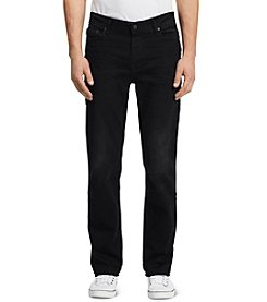Calvin Klein Jeans® Men's Worn-In Black Straight Fit Denim