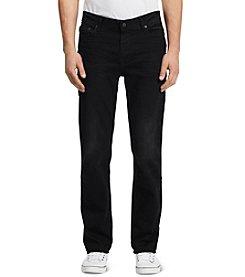 Calvin Klein Jeans® Men's Worn-In Black Straight Fit Denim
