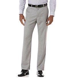 Perry Ellis® Men's Brushed Nickel Flat Front Herringbone Pants