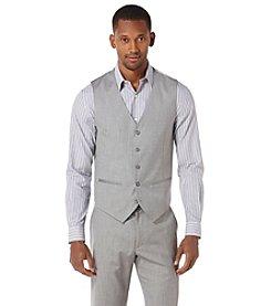 Perry Ellis® Men's Brushed Nickel 5-Button Herringbone Vest