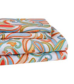 Elite Home Products Hotel Print Spring Paisley Sheet Sets
