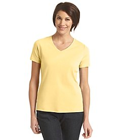Studio Works® Petites' V-Neck Tee