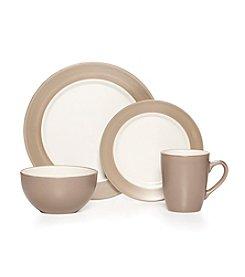 Pfaltzgraff® Harmony Rim Taupe 16-pc. Dinnerware Set