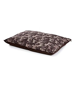 John Bartlett Pet Tan and Brown Camo Pet Bed