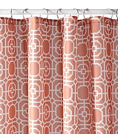 Excell Dartmouth Coral Shower Curtain