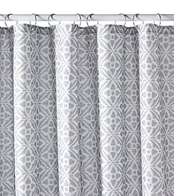 Excell Tiles Grey Shower Curtain