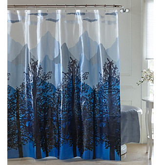 Light Blue Curtains Blackout Morgan Shower Curtain