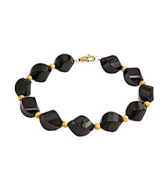 Effy® Faceted Onyx Bead Bracelet