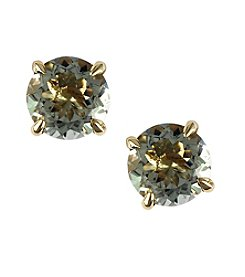 Effy® Green Amethyst Earrings in 14K Yellow Gold