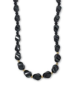 Effy® Faceted Onyx Bead Necklace in 14K Yellow Gold