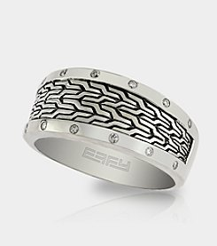 Effy® .14 ct. t.w Diamond Band Ring in Sterling Silver - Size 10
