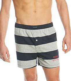 Tommy Hilfiger® Men's Grey Striped Logo Knit Boxers