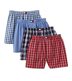 Tommy Hilfiger® Men's Red/Blue Woven Boxers