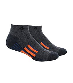 adidas® Men's Grey 2-Pack Climalite Traxion Performance Low Cut Socks