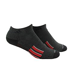 adidas® Men's Black 2-Pack Climalite Traxion No Show Socks