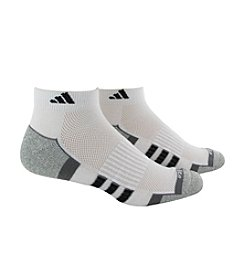 adidas® Men's White 2-Pack Climalite Performance Low Cut Socks