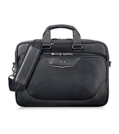 Solo® Black and Red Executive Briefcase