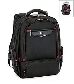 Solo® Black and Red Executive Backpack