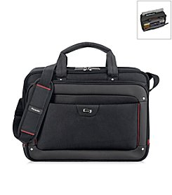 Solo® Black and Red Executive Sterling Briefcase