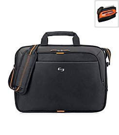 Solo® Black and Orange Urban Briefcase