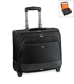 Solo® Black and Orange Urban Rolling Overnighter