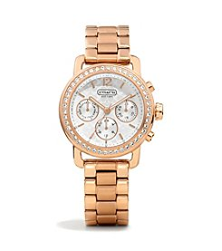 COACH ROSE GOLD LEGACY SPORT MINI BRACELET WATCH