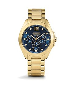 COACH GOLDTONE TRISTEN BRACELET WATCH