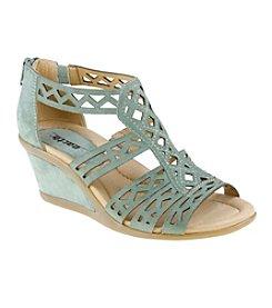 """Earth® """"Petal"""" Zip Wedge Sandals"""