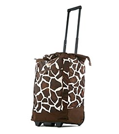 Olympia Giraffe Rolling Shopper Tote
